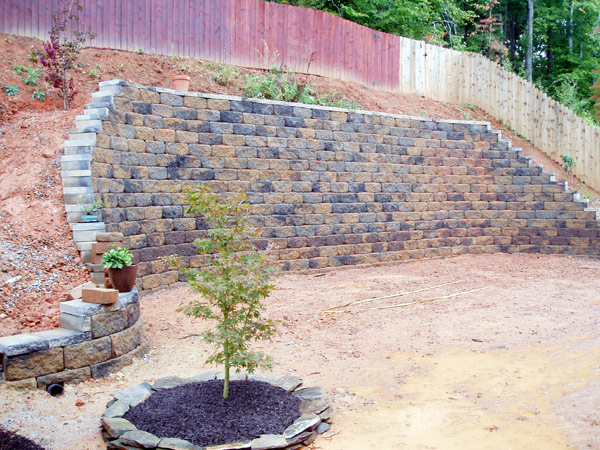 charlotte retaining walls charlotte nc retaining wall construction